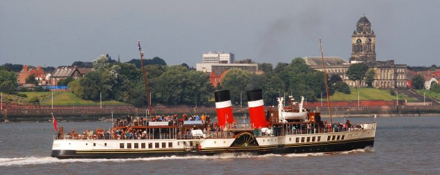 The steamer Waverley on the Mersey