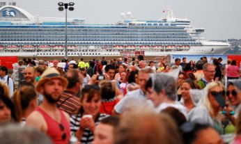 Even a departing Ruby Princess cannot compete