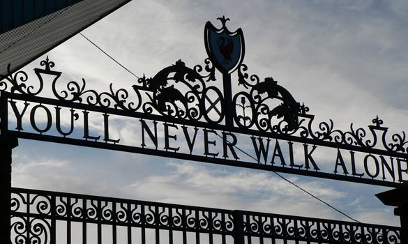 You'll Never Walk Alone gates at Anfield