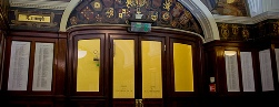 Names on the Hall of Remembrance at Liverpool's Town Hall