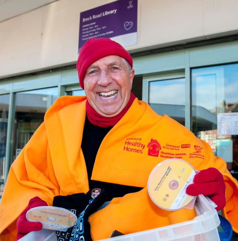 Pete Price at winter survival campaign launch