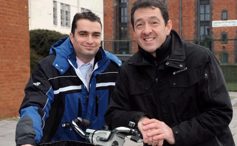Cllr Tim Moore and Chris Boardman