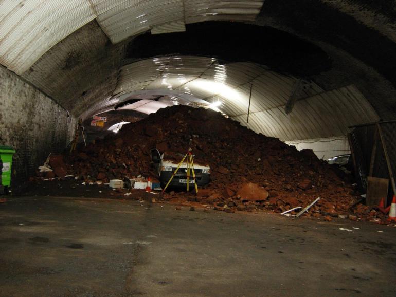 Dingle tunnel collapse