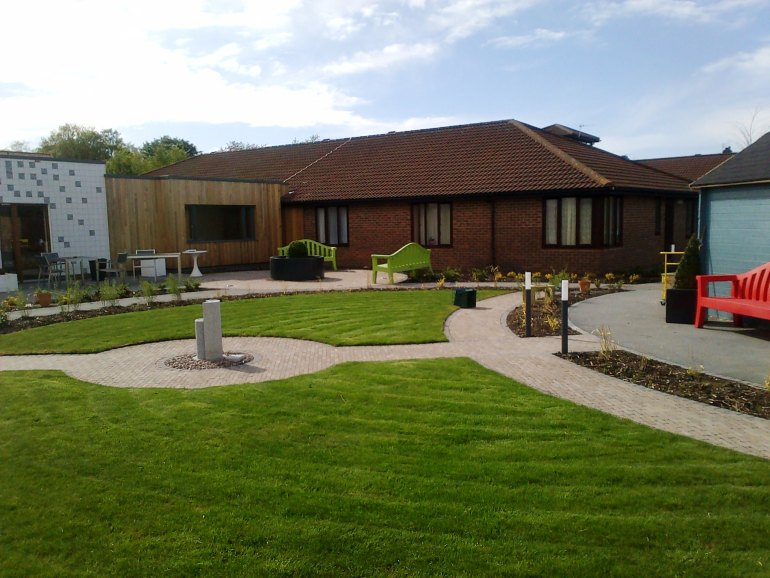 Sensory garden at Sedgemoor Dementia Centre