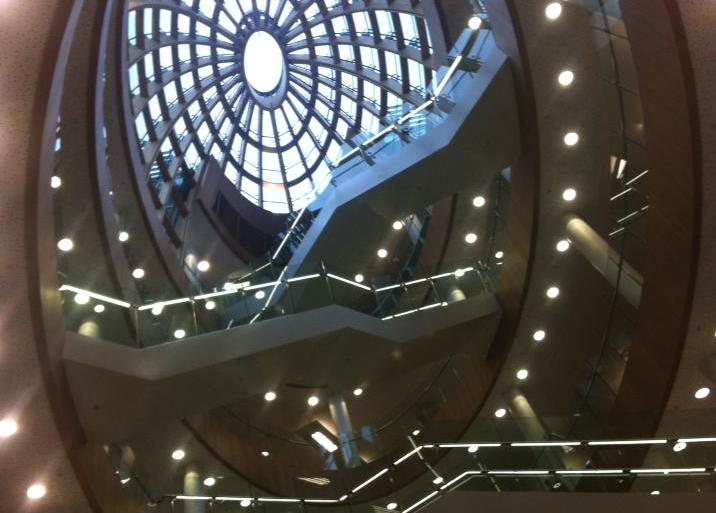 Central library dome