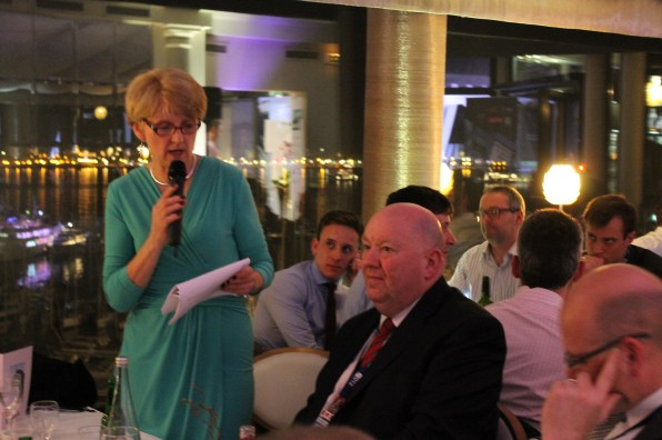 Liz Peace addresses the audience at MIPIM