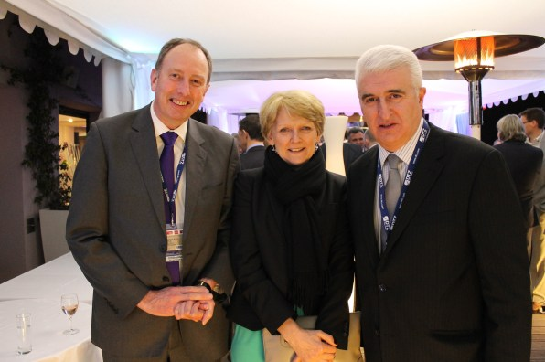 (Left ro Right) Ged Fitzgerald, city council chief executive, Liz Peace and Max Steinberg