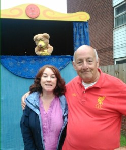 Cllr Jacqui Taylor and Bob Tipper Chair of the Dalemeadow Residents Association at the Dalemeadow carnival