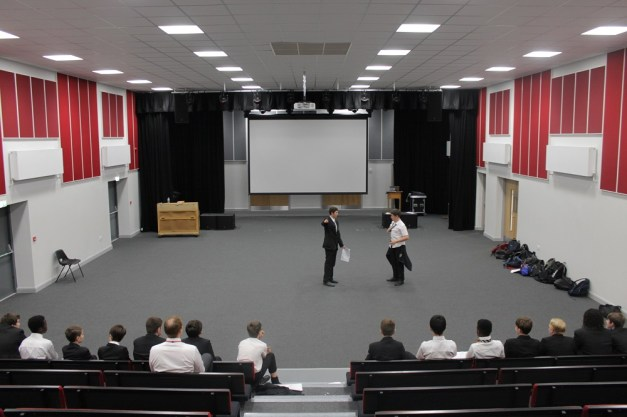 Students rehearse in the new drama facilities