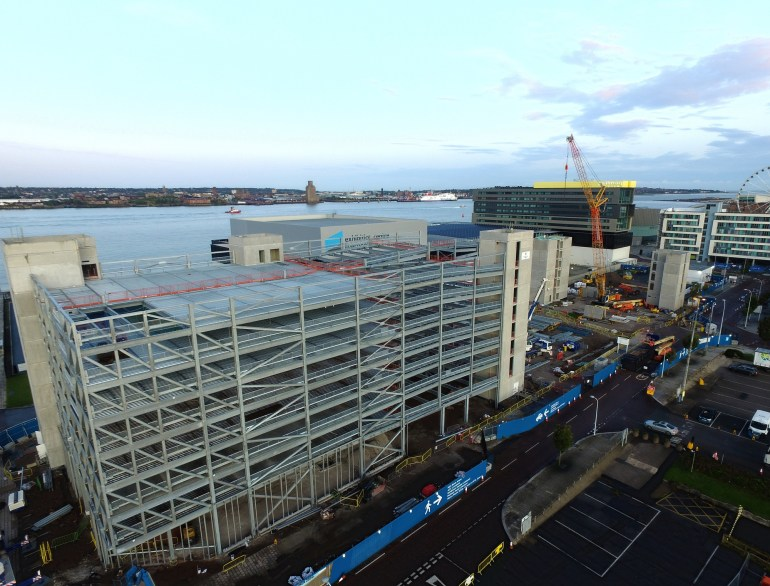 New Kings Dock car park passes half way stage