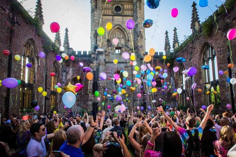 St Luke's Bombed Out Church Gardens Re-Opening In Style On 17th June