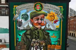 The Story Behind The Huge Mural At Shenanigans Irish Pub 1