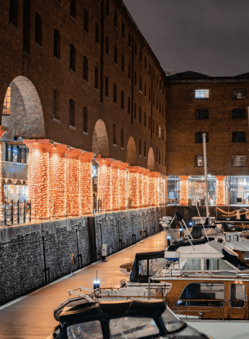 Royal Albert Dock Autumn Winter Lights
