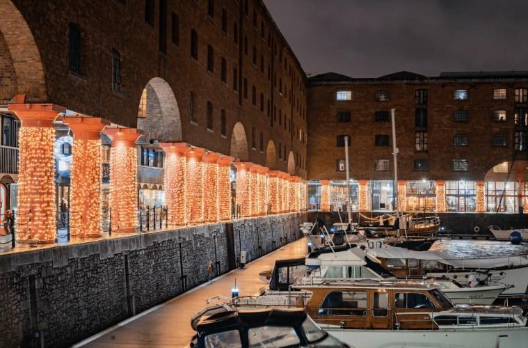 Royal Albert Dock Autumn Winter Lights