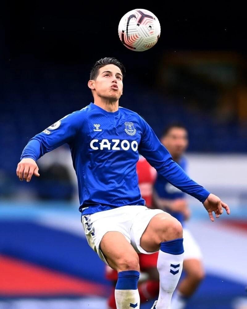 Everton FC James Rodriguez