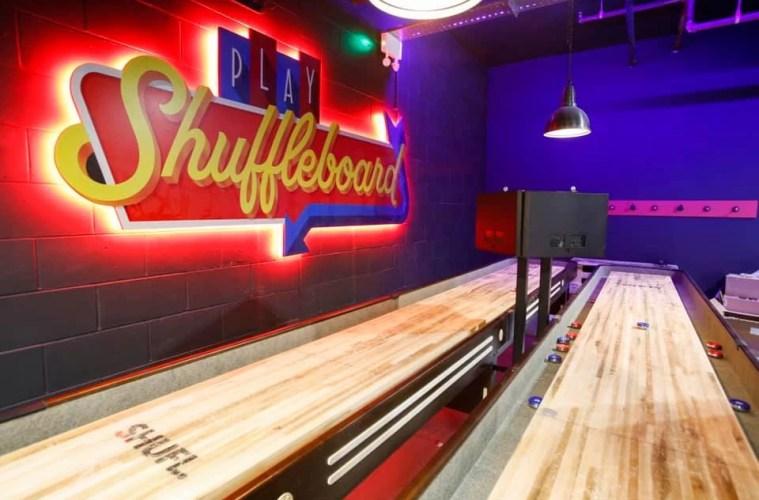 Boom Battle Bar Liverpool Shuffleboard