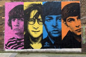 Liverpool Music The Beatles Mural Liverpool Baltic Triangle