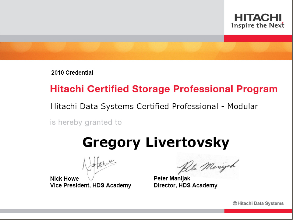 unix system architect resume hitachi data systems certified