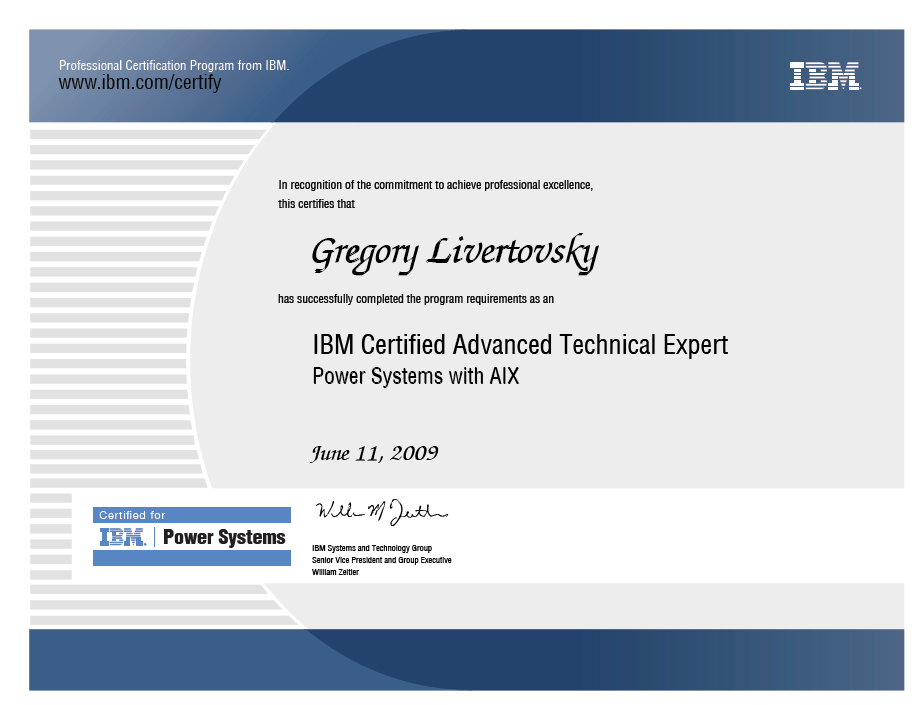 ibm certified advanced technical expert power with aix 2009