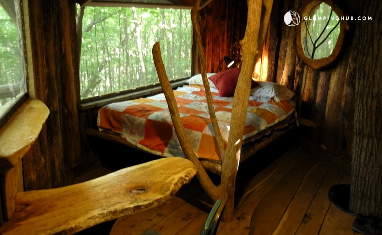 Vermont glamping tree house