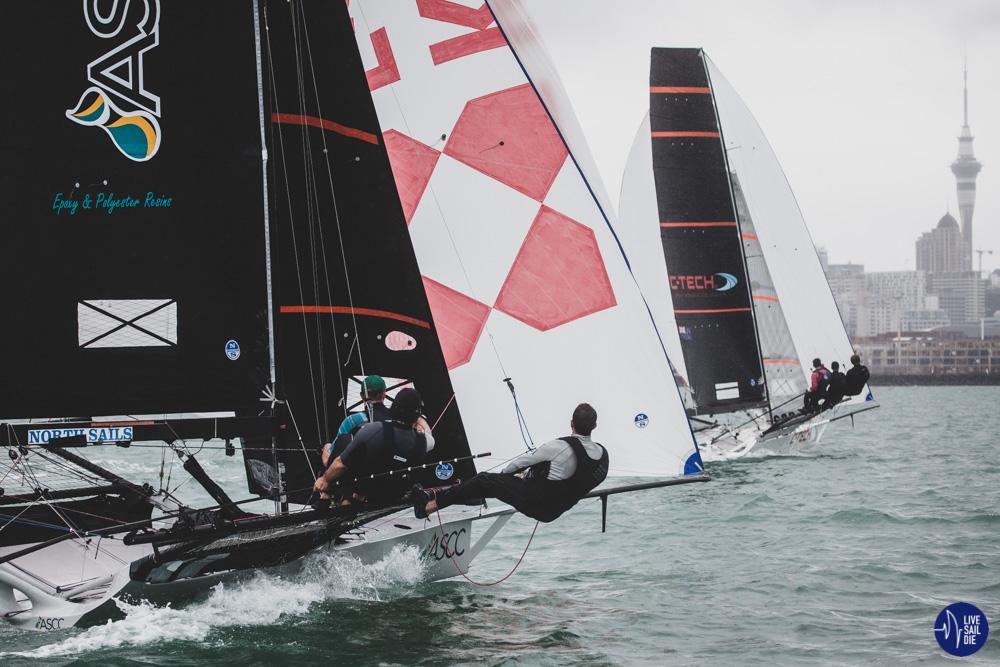 18' Skiff Auckland Championship. Photo: Suellen Davies - Live Sail Die