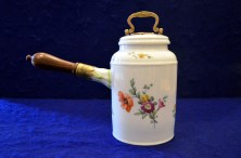 The pot was made around 1770 at the Royal Porcelain Factory in Berlin, Germany.