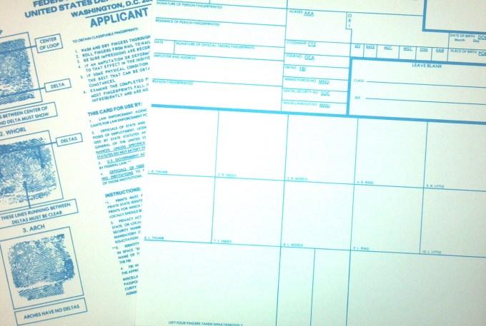 Fbi Applicant Fingerprint Card Fd 258 Letternew