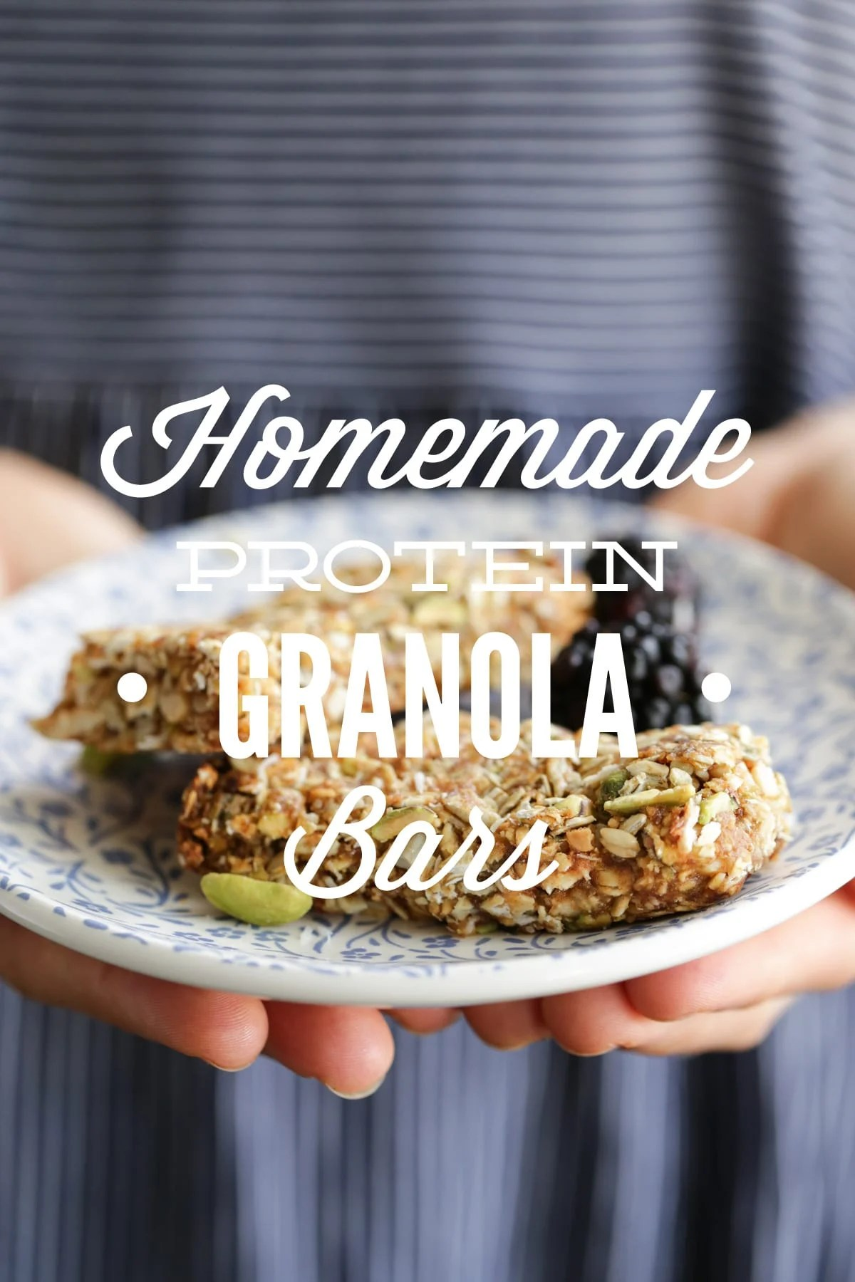 Homemade Protein Granola Bars Live Simply