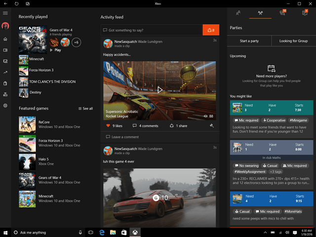 Looking for Group on Xbox App on PC
