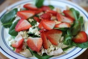 Chicken, Strawberry, Feta salad
