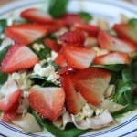 Chicken, Strawberry, Feta salad