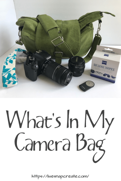 Camera equipment and accessories to keep in your camera bag