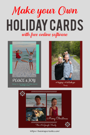 Make your own holiday cards tutorial.