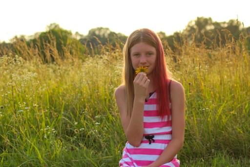 Girl at golden hour