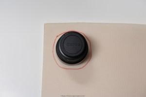 Flex Foam being measured for lens case
