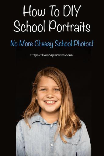 School Photo of Girl - How to DIY School Portraits