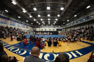 Panoramic of a Cheer gym