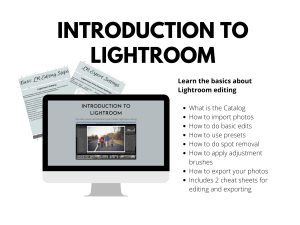 Introduction to Lightroom Course Mock-up