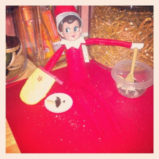 Emily the Elf is using some of our American Girl accessories to get started on the holiday baking!