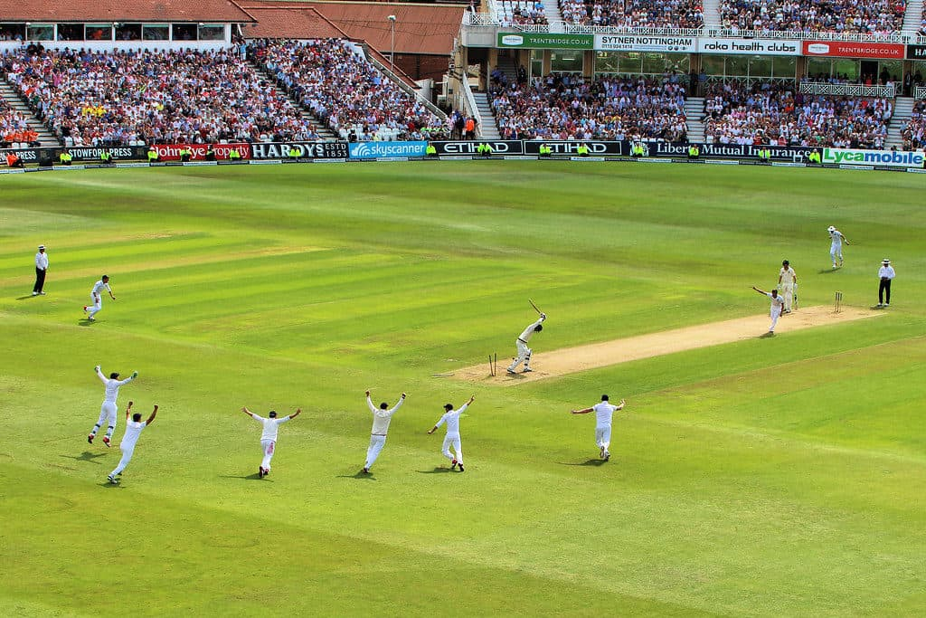 photo from watching a live Ashes test match