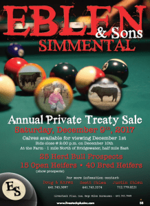Eblen & Sons Simmental Private Treaty Sale @ Eblen Simmental | Bridgewater | Iowa | United States