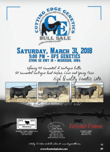 Cutting Edge Genetics Bull Sale @ DGS Genetics | McGregor | Iowa | United States