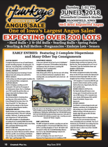 Hawkeye Country Angus Sale @ Bloomfield Livestock Market