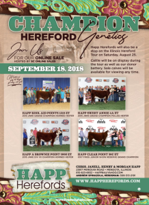 Happ Herefords Online Sale