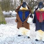 Festive Giant Penguins