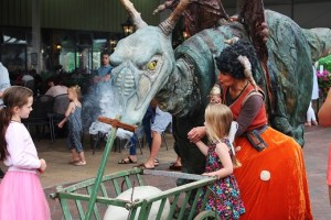 Livestock Productions presented the friendly Dragon live entertainment at the Ruxley Manor garden center.