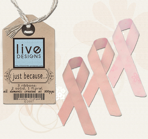 LivEdesigns Just Because PinkRibbons