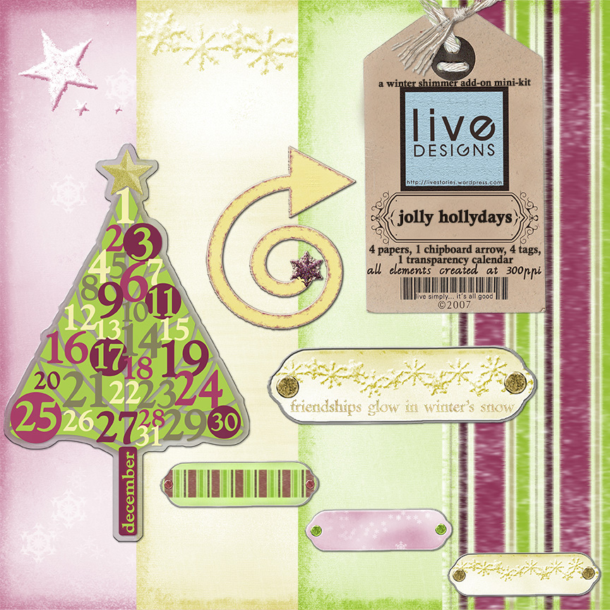 LivEdesigns Jolly HollyDays (Winter Shimmer Spin-off) PReview