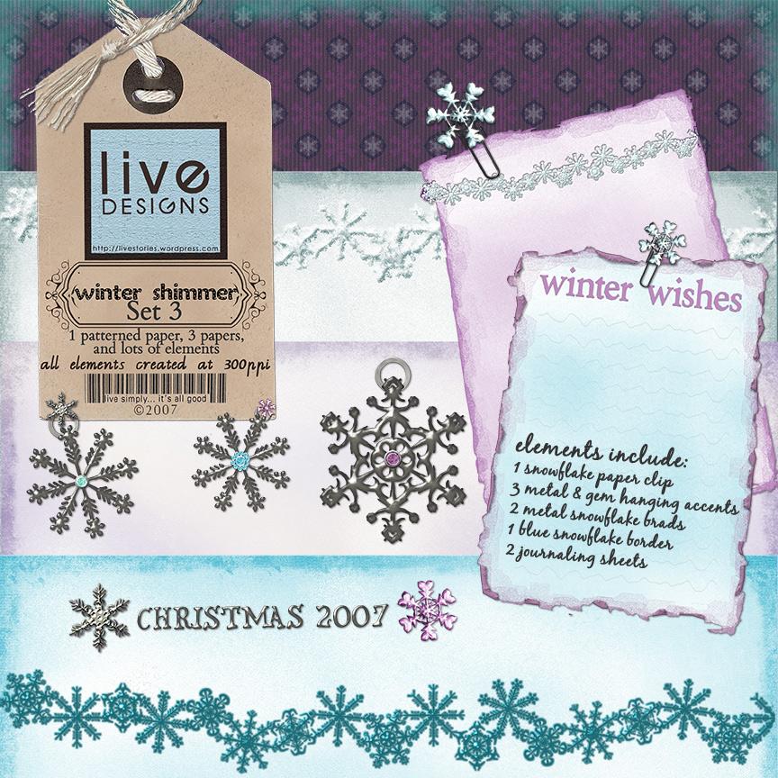 LivEdesigns Winter Shimmer Set3