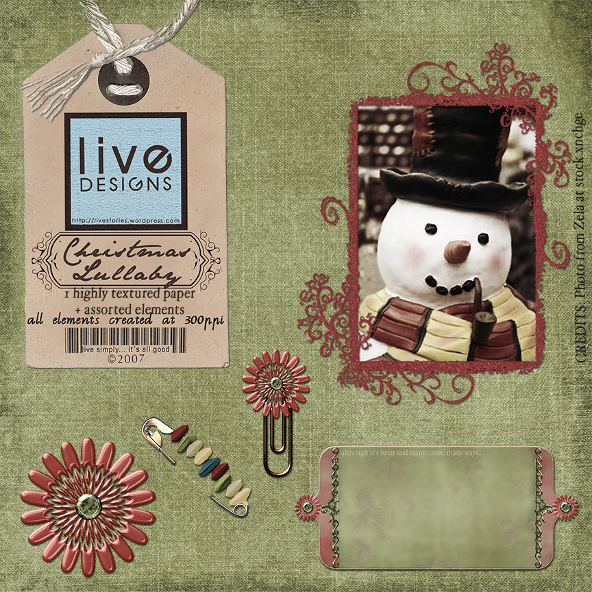 LivEdesigns Christmas Lullaby Set 3 Preview